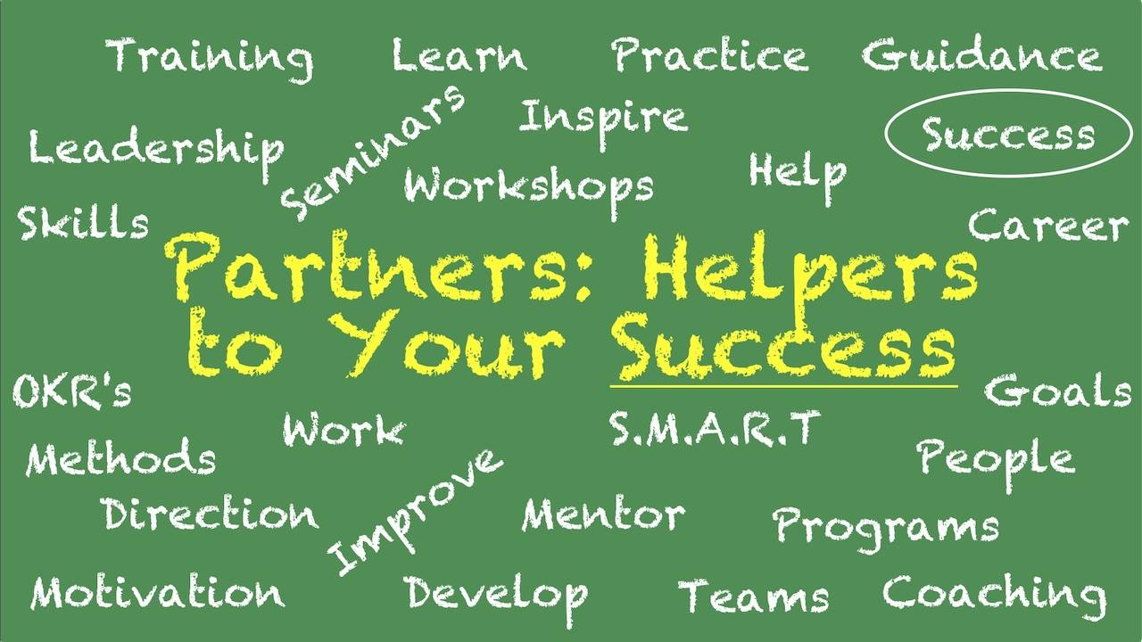 "This is an image with the main text title of ""Partners - Helpers to Your Success!"""