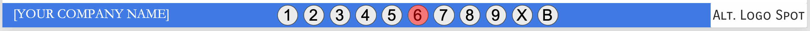 This is an image which is located at the bottom of every PowerPoint slide which is a series of 11 round buttons that when clicked navigate instantly to the numbered page