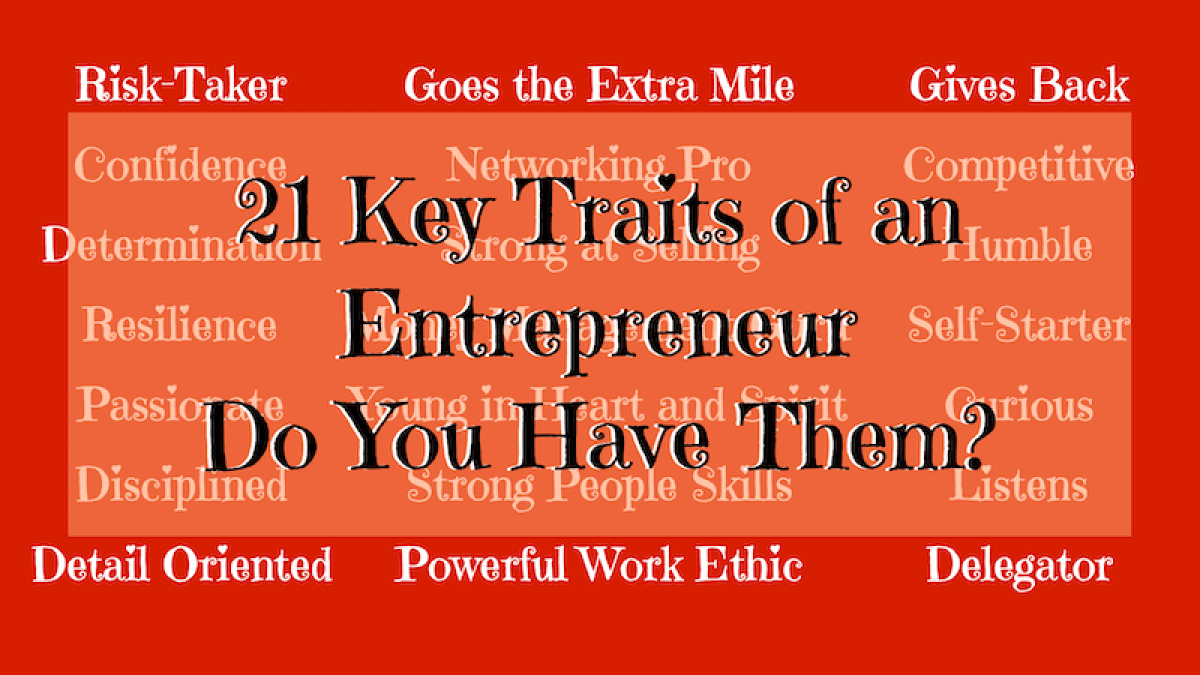 Image of 21 Key Traits of an Entrepreneur